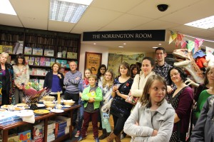 Lots of people listened as Sally read an extract from her book...