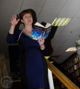 I read from the book - can't remember what required me to wave one hand about!