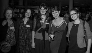 With writer friends Charlotte Guillain, Susie Day, Sally Nicholls and editor Ruth Knowles