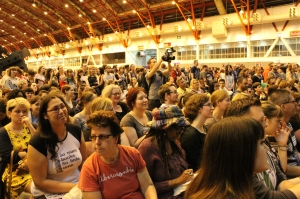 The audience for one of the panel events
