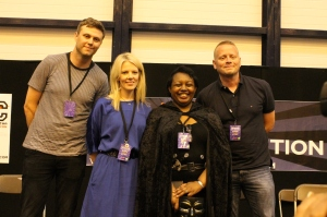 James Smythe, Sarah Crossan, Malorie Blackman and Patrick Ness