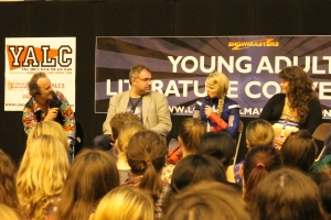 Superfans unite! Andy Robb, Tim O'Rourke, Lucy Saxon and Rainbow Rowell