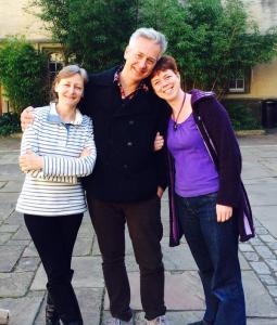 Cas, John and me. Thanks to OUP for the photo