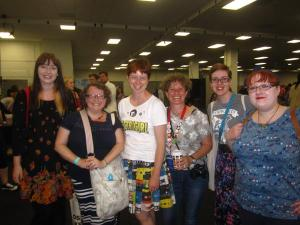 and there were loads of bloggers - with me, Keris Stainton and Liz Kessler in the middle of the blogger sandwich