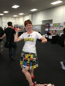 I was dressed in my ELECTRIGIRL t shirt and new mixtape skirt - dress for comfort is my advice!