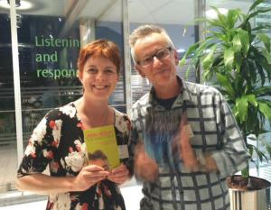 And I was UBER happy to meet the hugely talented and thoroughly nice John Hegley, who was entertaining the teachers, students and authors in the evening after the ceremony!