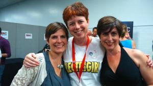 Natasha Farrant, me and Clare Furniss