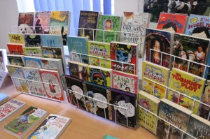 The library has our books on display!