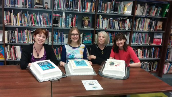 Left to right: me, Robin Stevens, Sue Heap and Teresa Heapy
