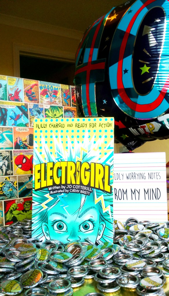 ELECTRIGIRL in all her glory - backed by presents from friends who know me well!