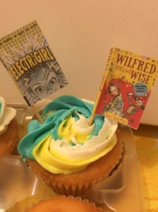 Cake for school launch, with book flags!