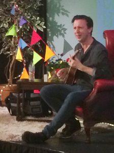 Steve sings his Aliens Stink song - always a hit!