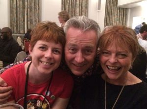 Me, John and JANET ELLIS!! Who used to be on Blue Peter! She's just written her first novel (The Butcher's Hook) and was on our quiz team. And we won! (though it was very little to do with either me or Janet, who didn't know most of the answers)