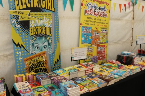 Lots of my books in the Waterstones tent!