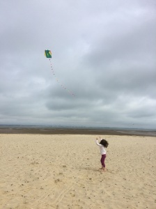 and flying kites