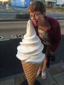...and ice cream! I always smile now when I see a 99 Flake (especially a big fake one!) because of the song I wrote last year called '99 Reasons to be Happy' and which we play in the author band First Draft.