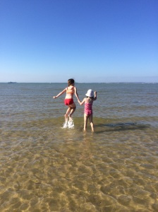 My kids enjoyed jumping the (very small) waves