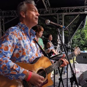 Paul's photo of John, me and Helen singing 'Daydreaming'