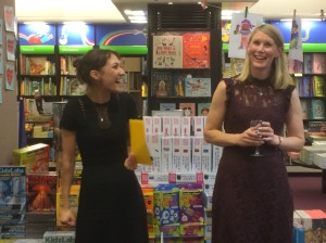 Tamsyn with her Usborne editor Stephanie King