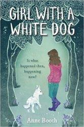 girl white dog